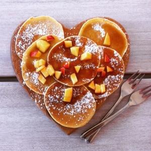 Pancakes maison avec sirop d'érable